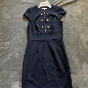 Navy and Gold Sandra Darren Dress